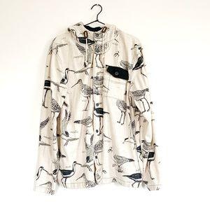 Hooded Bird Button Down Shirt
